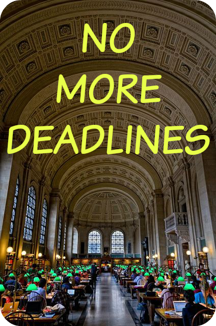 library 5 Boston NO MORE DEADLINES